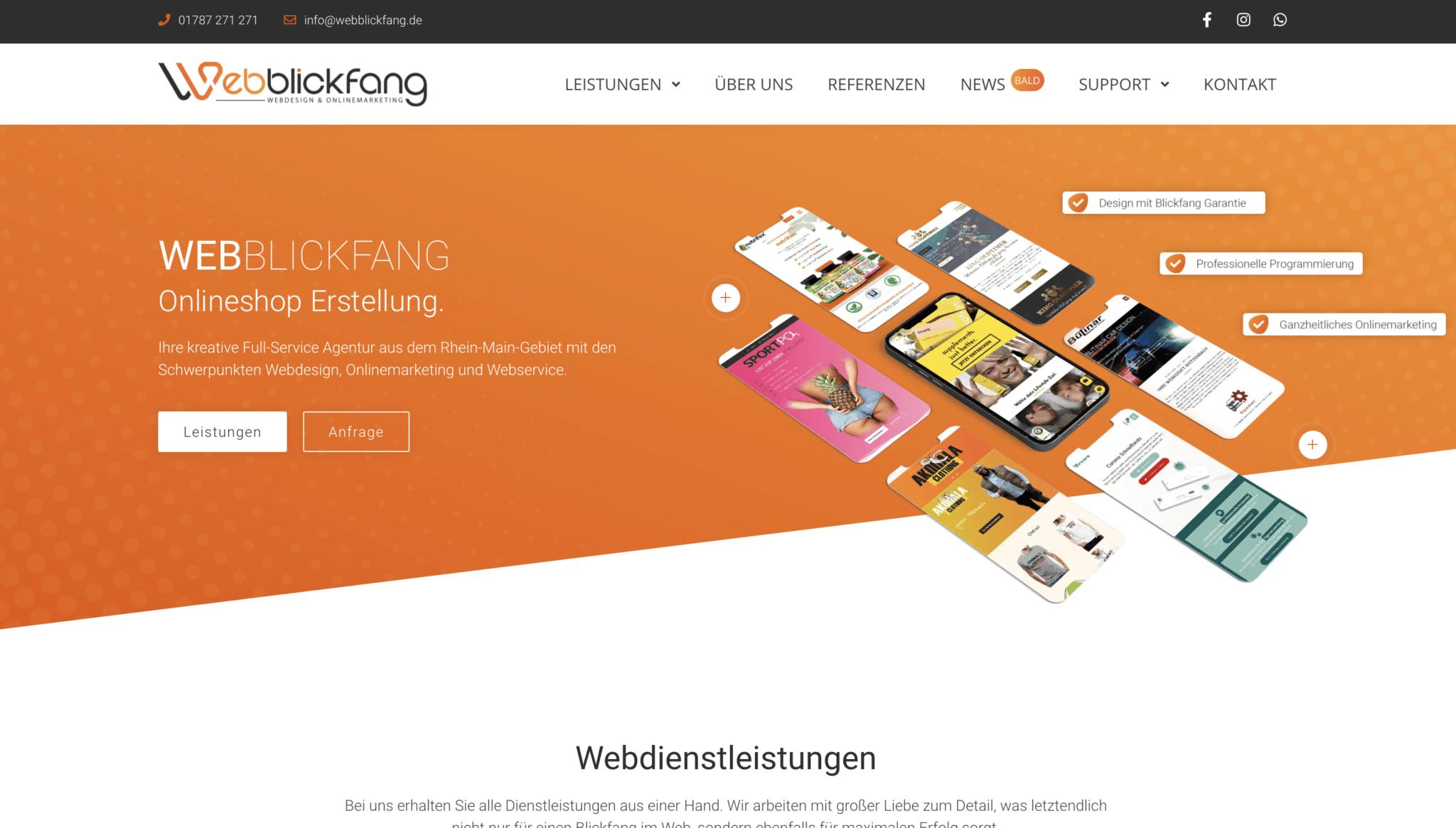 Webblickfang